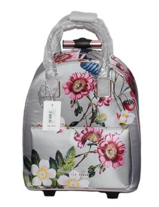 Ted Baker Polyester Carry On Suitcase Light Grey Travel Bag