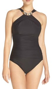 Miraclesuit NEW Miraclesuit Black Bijoux 1 pc Swimsuit sz 12
