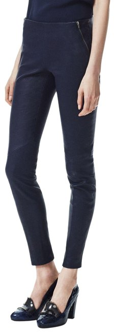 Item - Navy New Keil Leather In Pants Size 0 (XS, 25)