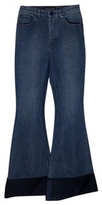 Brandon Maxwell Flare Leg Jeans-Light Wash