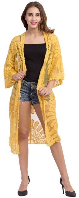 Item - Yellow Lace Duster Jacket Size OS (one size)