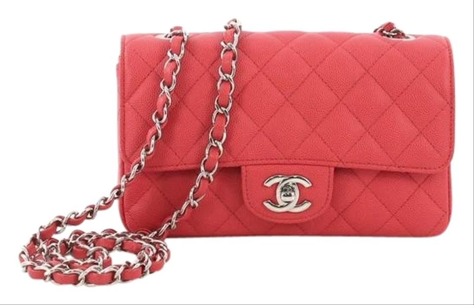 38f70a1ffb8b5d Chanel Classic Flap Classic Single Quilted Caviar Mini Pink Leather ...