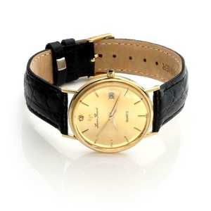 Lucien Piccard Men's Date 14k Yellow Gold Wrist Watch Quartz 24787