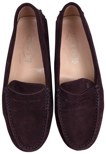 Item - Plum Gommino Suede Loafers Driving Moccasins 37 Flats Size US 7 Regular (M, B)