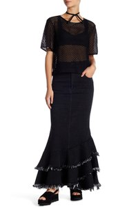 TOV Holy Maxi Skirt Black Denim