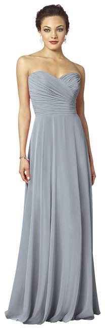 Item - Grey Strapless Sweetheart Chiffon Gown Style 6639 Long Formal Dress Size 10 (M)