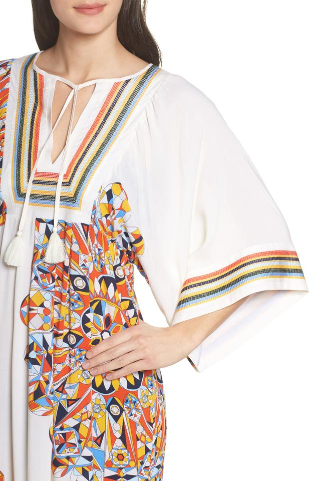 24bc39b1ce Tory Burch Multicolor Kaleidoscope Beach Tunic Cover-up/Sarong Size ...