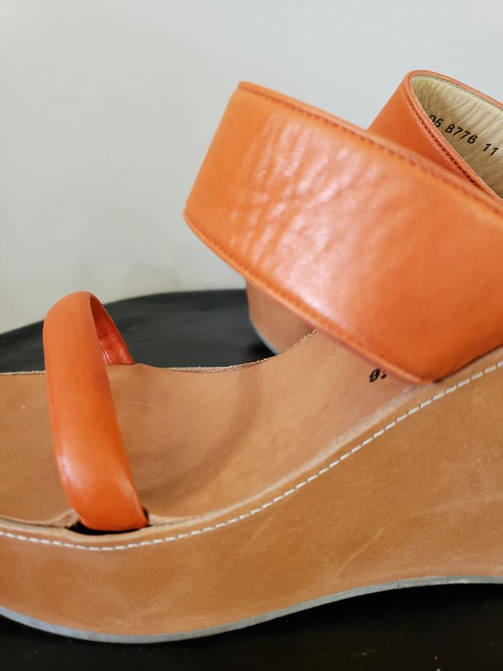 e4b83fbf4f6 Robert Clergerie Orange and Nude Double Band Sandal Platforms Size US 7.5  Regular (M, B) 71% off retail