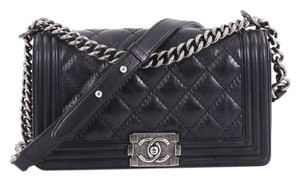 25cc7cdda2ea Chanel Classic Flap Boy Quilted Goatskin with Patent Old Medium Red ...