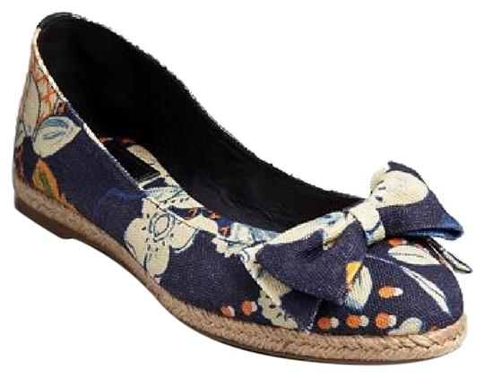 Tory Burch Blue floral print Flats Image 0