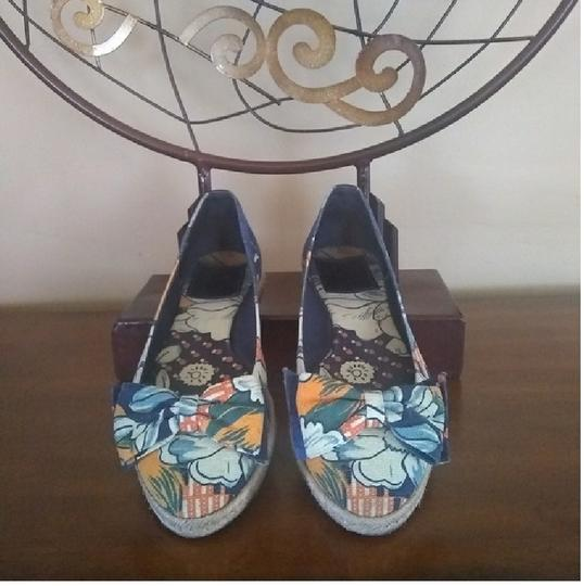 Tory Burch Blue floral print Flats Image 1