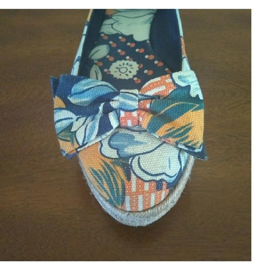 Tory Burch Blue floral print Flats Image 5