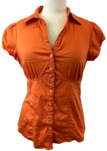 Banana Republic Button Down Shirt Orange