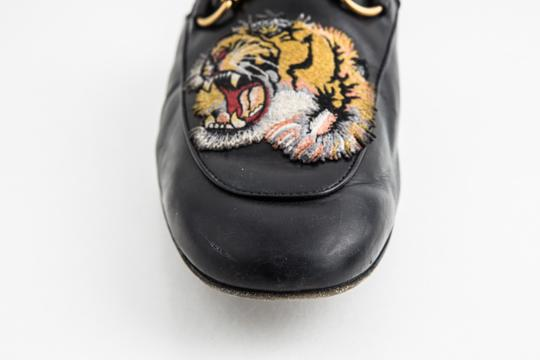 Gucci Black Kings Tiger Leather Mule Shoes Image 7