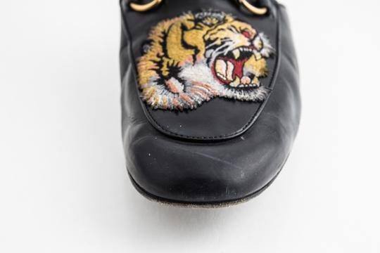 Gucci Black Kings Tiger Leather Mule Shoes Image 8