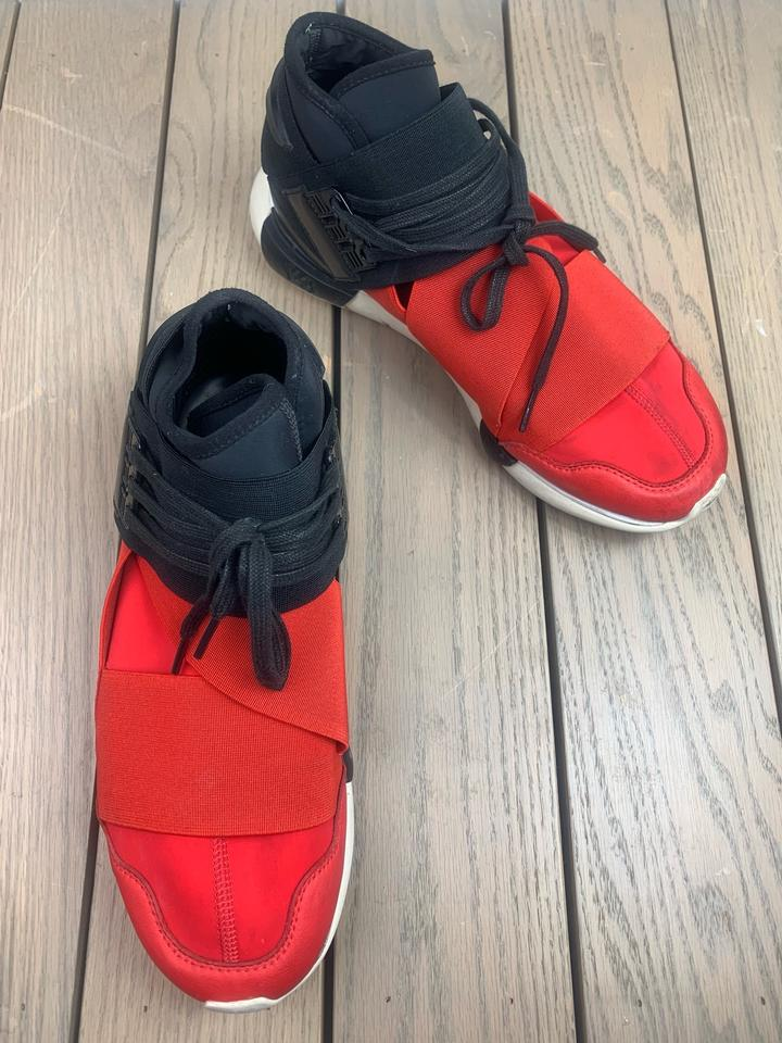 7ffc095ee3741 Yohji Yamamoto Adidas Y-3 Qasa High Royal Red Black White S83174 Nmd  Sneakers Size US 9.5 Regular (M