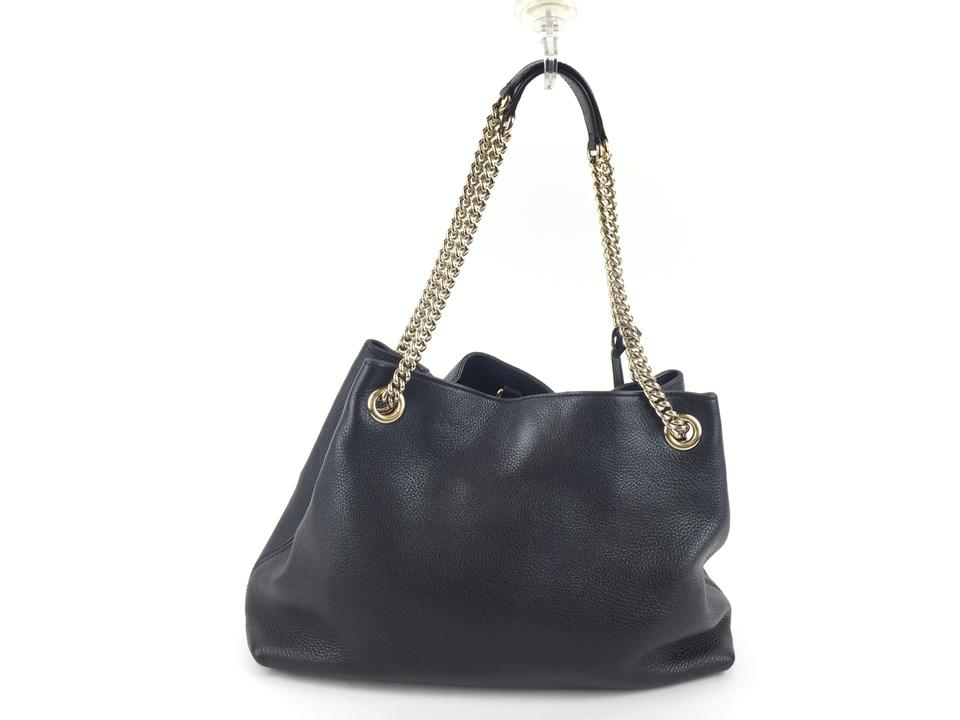 35a724de29a Gucci Soho Shoulder Black Leather Hobo Bag - Tradesy