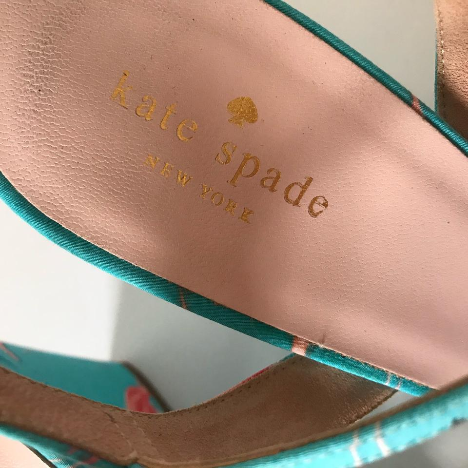 cfe79aea1fbf Kate Spade New York Womens Indie Flamingo Sandals Turquoise Italy Wedges  Size US 10 Regular (M