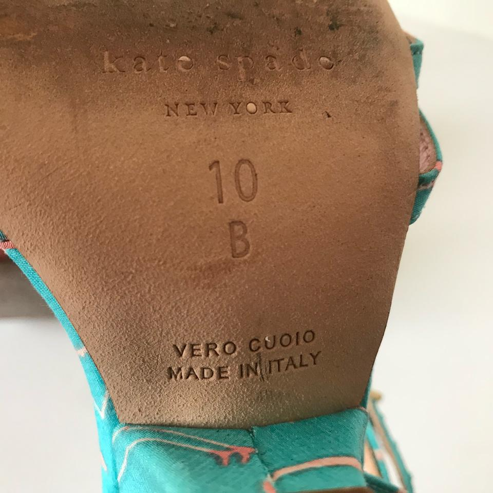 819a1486d26f Kate Spade New York Womens Indie Flamingo Sandals Turquoise Italy ...