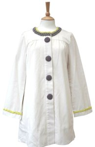 Boden Handcrafted Artisan Pockets Button Down Raincoat