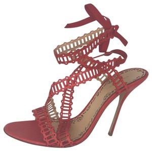 742d08ca5e Marchesa Water Snake Coral Snakeskin red Sandals