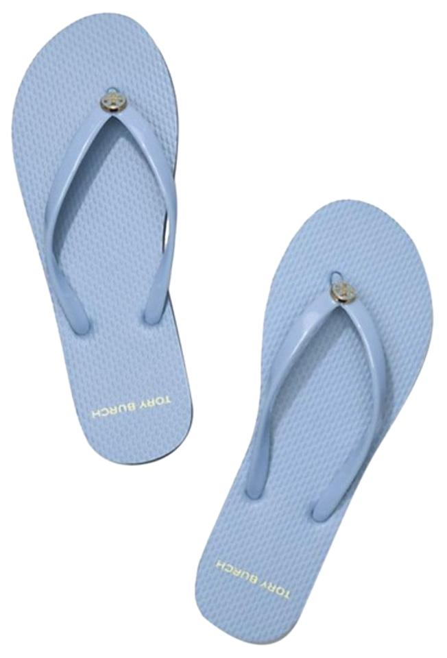 040f11340 Tory Burch Light Chambray Blue New Thin Flip Flop Flops Sandals Size ...