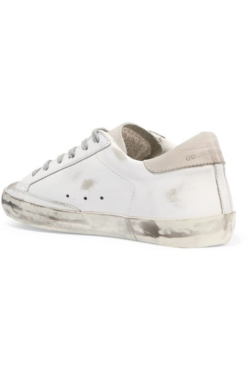 Golden Goose Deluxe Brand Ggdb Superstar Skate Sneaker White and Off-White Athletic Image 1