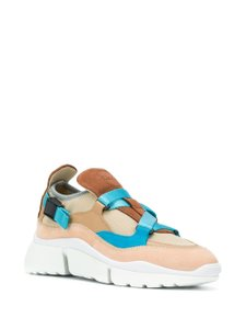 Chloé Suede Calfskin Nylon Brown/Turquoise Athletic