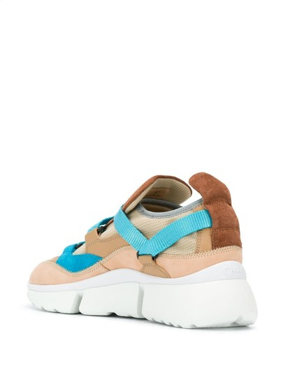 Chloé Suede Calfskin Nylon Brown/Turquoise Athletic Image 1