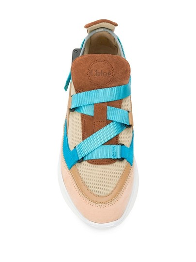 Chloé Suede Calfskin Nylon Brown/Turquoise Athletic Image 2