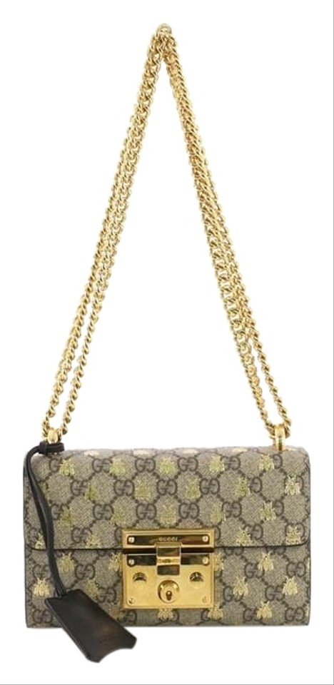 709526a2bc6 Gucci Padlock Printed Gg Small Brown Coated Canvas Shoulder Bag ...