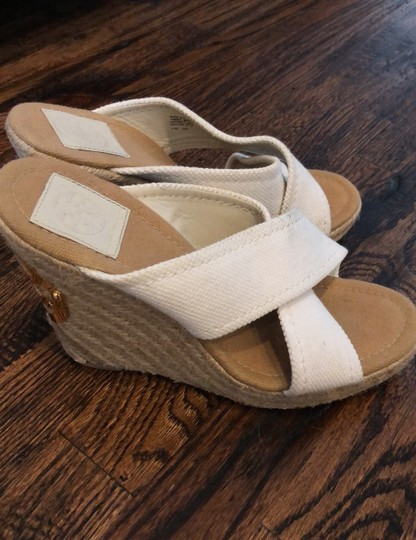 Tory Burch white Wedges Image 1