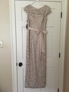 Adrianna Papell Nude - Beige Formal Bridesmaid/Mob Dress Size 6 (S)