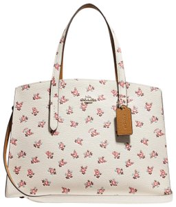 Coach Satchel in Chalk Multi/Silver