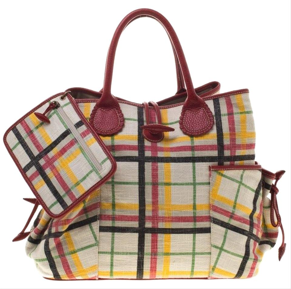 26e227ec4f23 Burberry House Check Multicolor Canvas Tote - Tradesy
