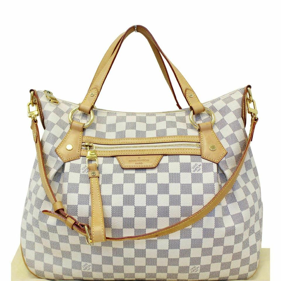 c9b2922c3c51 Louis Vuitton Evora Mm Damier Azur Tote Shoulder Bag - Tradesy