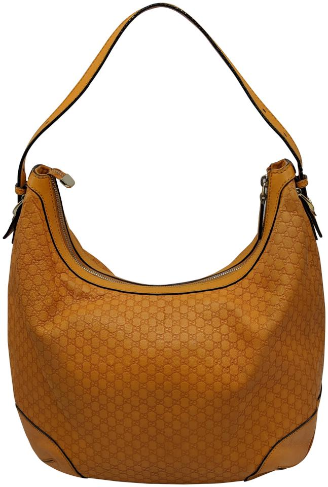 Gucci Gg Monogram Leather Supreme Hobo Bag Image 0