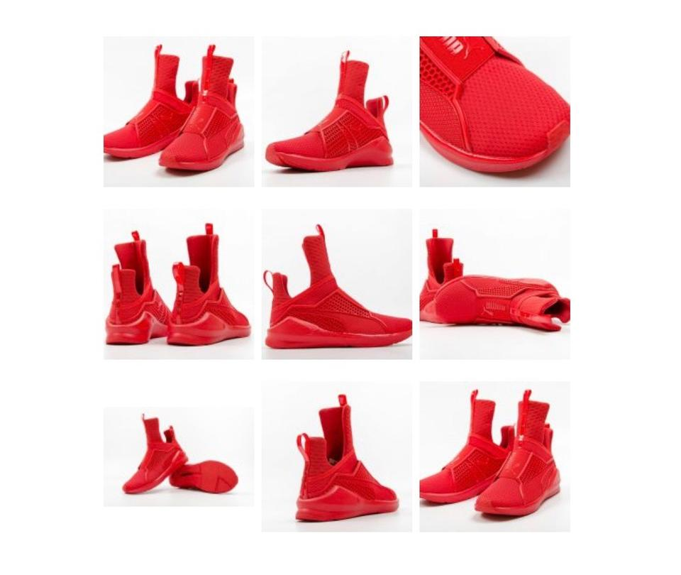 new product ce868 7fcda Red Trainer Sneakers