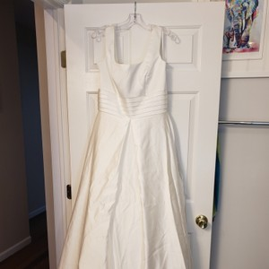 589eed467 US Angels White Satin Re97721 Casual Wedding Dress Size 12 (L)