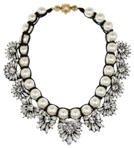Shourouk Pearl Crystal Embellishment necklace