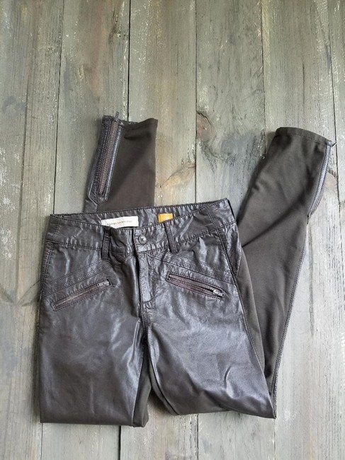 Anthropologie Brown Pilcro and The Letterpress Moto Pants Size 2 (XS, 26) Anthropologie Brown Pilcro and The Letterpress Moto Pants Size 2 (XS, 26) Image 5