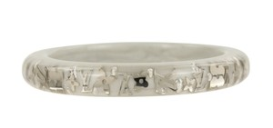 Louis Vuitton Narrow Monogram Inclusion Enamel Bangle