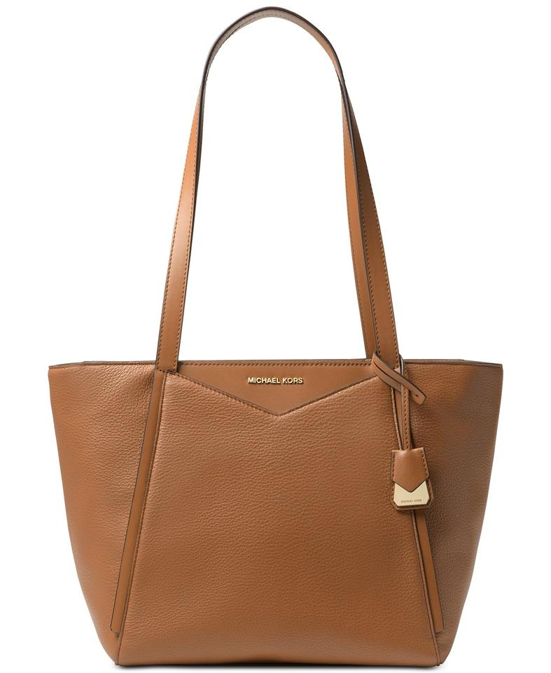 545006777d62 Michael Kors Whitney Pebbled Acorn Brown Leather Tote - Tradesy