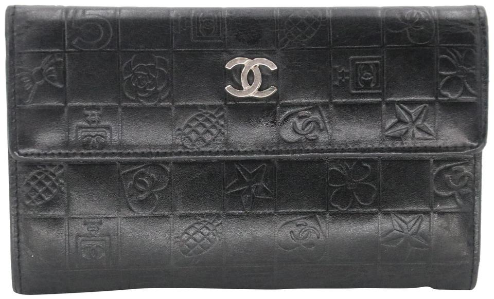 cbaf8e7f0840 Chanel CC Embossed Quilted Lambskin Leather Lucky Symbols Wallet Image 0 ...