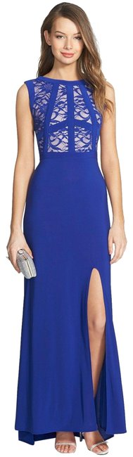 Item - Blue Lace Bodice Gown Long Formal Dress Size 6 (S)