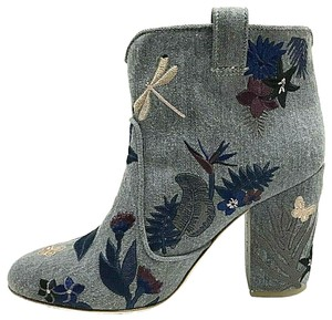 Laurence Dacade Embroidered Ankle Belen Denim Boots