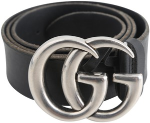 deb6368505e Gucci Gucci Men s Leather Belt with GG Buckle