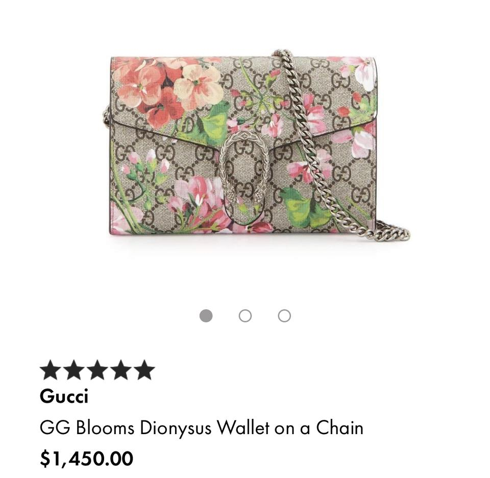 3799333f3deb Gucci Dionysus Gg Blooms Wallet On A Chain Rose Multi Cross Body Bag -  Tradesy