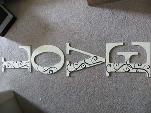 Hand Painted Love Wood Letters Other