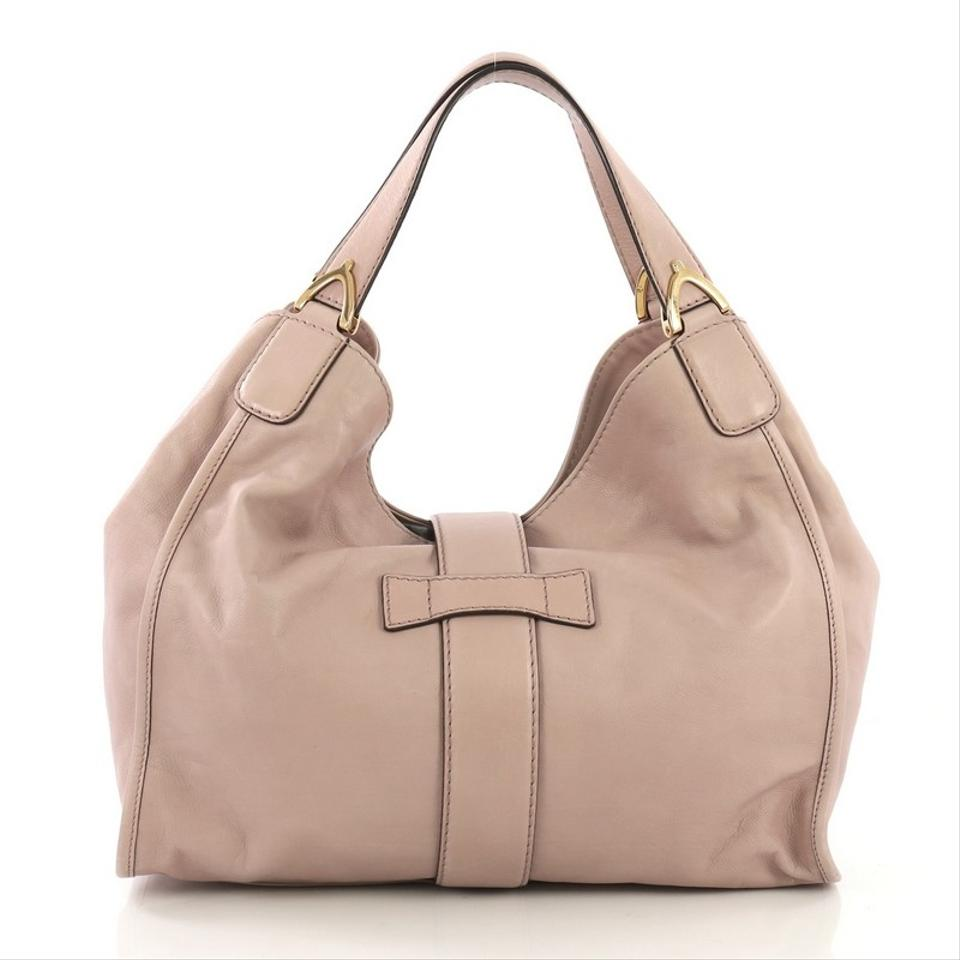 8385f79b7 Gucci Stirrup Soft Medium Pink Leather Tote - Tradesy